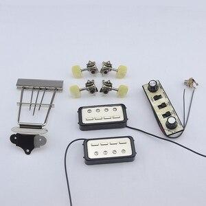 Image 1 - 1 Set Original Genuine Hofner HCT500 Series Bass Kit   (  Tuners + Pickups + Trapeze Tailpiece + Control Panel )