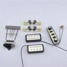 1 ensemble Original de Kit de basses (accordeurs + Pickups + embout trapèze + panneau de commande) de la série Hofner HCT500
