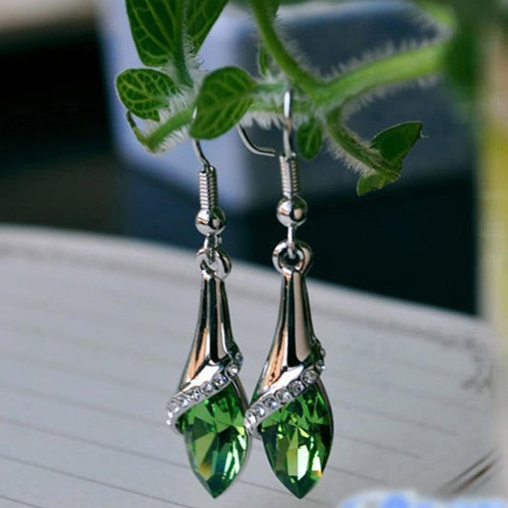 1 Pair Ethnic Rhinestone Crystal Drop Earrings Women Lady Marquise Teardrop Earrings Luxury Ladies Wedding Gift Party Jewelry|Drop Earrings| - AliExpress