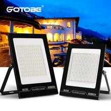 Diodo emissor de luz spotlight 100w 50w 30w 20w 10w ultra-fino refletor branco ao ar livre 220v 230v 240v 260v ip68 impermeável luz de inundação
