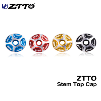 1PC ZTTO MTB Bicycle Headset Stem Top Cover Cap Fork 1-1/8 Threadless Headsets Parts Mountain Road Bike Aluminum Alloy image