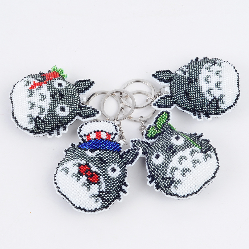 7.5cm DIY Beads Toys Handmade Embroidered Angel Wings Cross-stitch Keychain Handicrafts Toy Kit Kids Adult Girl Gift 2019 NEW