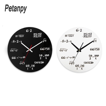 New Modern Home Decor Acrylic Wall Clock Math Equations Mounted Quartz Needles  Horloge Watch