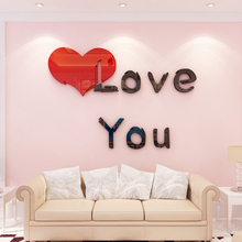 Nordic INS creative love DIY Children's room bedroom home living room TV background wall decoration 3D acrylic wall stickers creative ins cartoon car diy children s room bedroom home living room tv background wall decoration 3d acrylic wall stickers