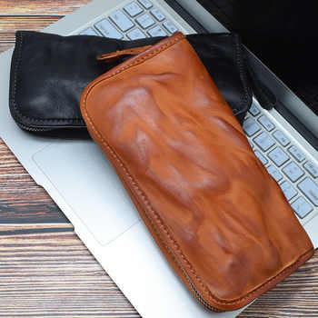 Men\'s Hand Purse Multifunctional Retro Large Capacity Wallet