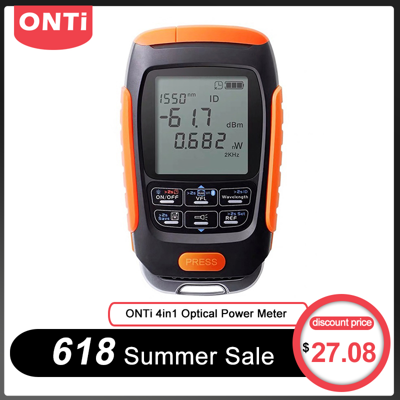 ONTi 4in1 Li lion Battery Optical Power Meter Visual Fault Locator Network Cable Test optical fiber tester 5km 15km 30km VFLFiber Optic Equipments   - AliExpress