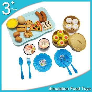 Children Simulation Food Hamburger Hotdog Kitchen Toy Set Pretend Play Miniature Snack Burger Educational Girls Toys Kid 1
