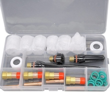 30Pcs Durable Tig Welding Torch Accessories 4#-12# Glass Cup Kit Tig Gas Lens Collets Body For Wp-17/18/26 Torch