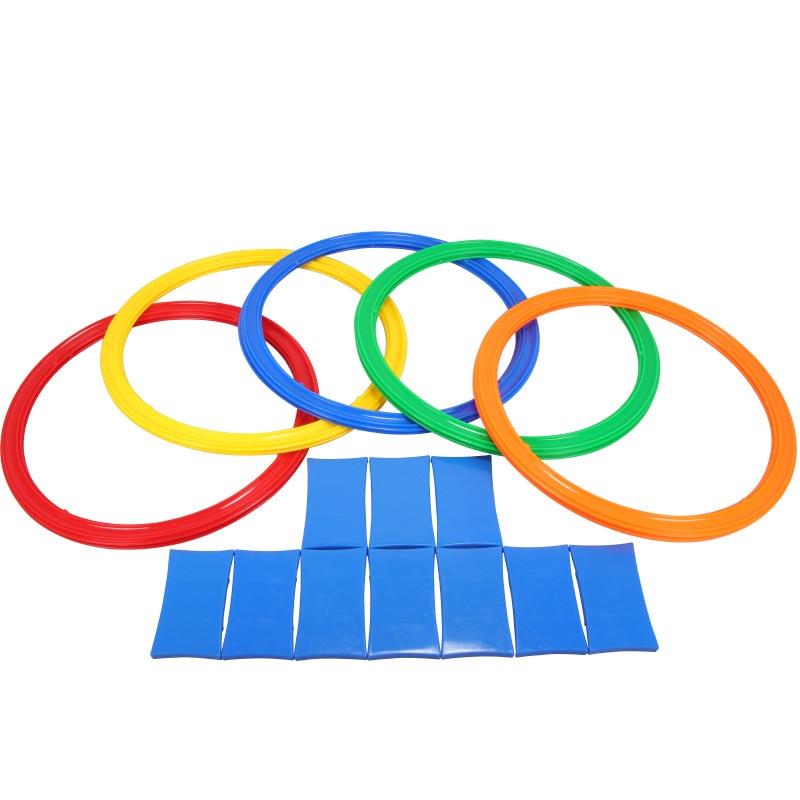 Morning Breeze Hopscotch Kindergarten Sports Children Jump Circle Teaching Aids Outdoor Parent And Child Toy Sensory Training Eq