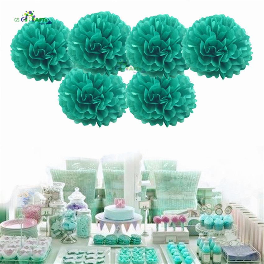 4 6 8 10 12inchTissue Paper Pom Poms Flower Balls For Wedding Decoration Baby Shower Bithday Christmas Party Supplies DIY Crafts