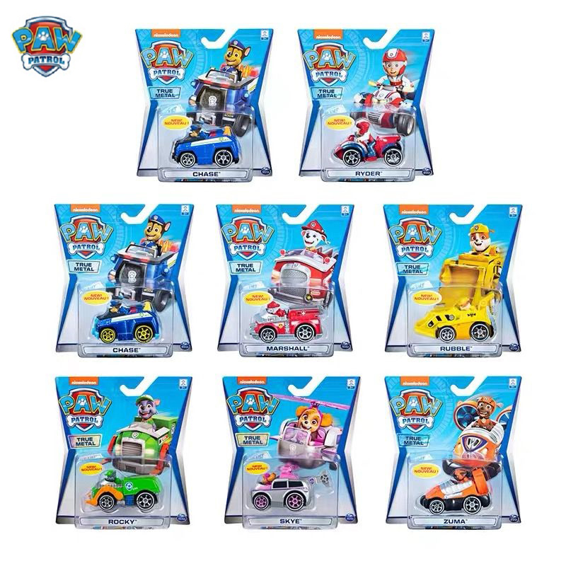 Paw Patrol Dog Vehicle Rescue Puppy Set Toys Alloy Material Patrulla Canina Action Figures Chase Marshall Ryder Toy Kids Gift