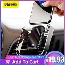 Baseus 15W 무선 자동차 충전기 Qi 무선 충전기 자동차 공기 환기 마운트 홀더 적외선 센서 무선 충전 전화 홀더