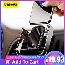 Baseus cargador de coche inalámbrico de 15W, cargador en coche inalámbrico Qi, soporte de montaje en rejilla de ventilación, Sensor infrarrojo, soporte de teléfono de carga inalámbrica