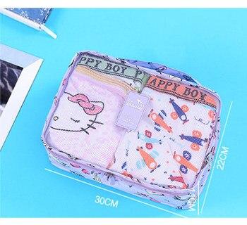 6piece/set travel mesh bag in bag