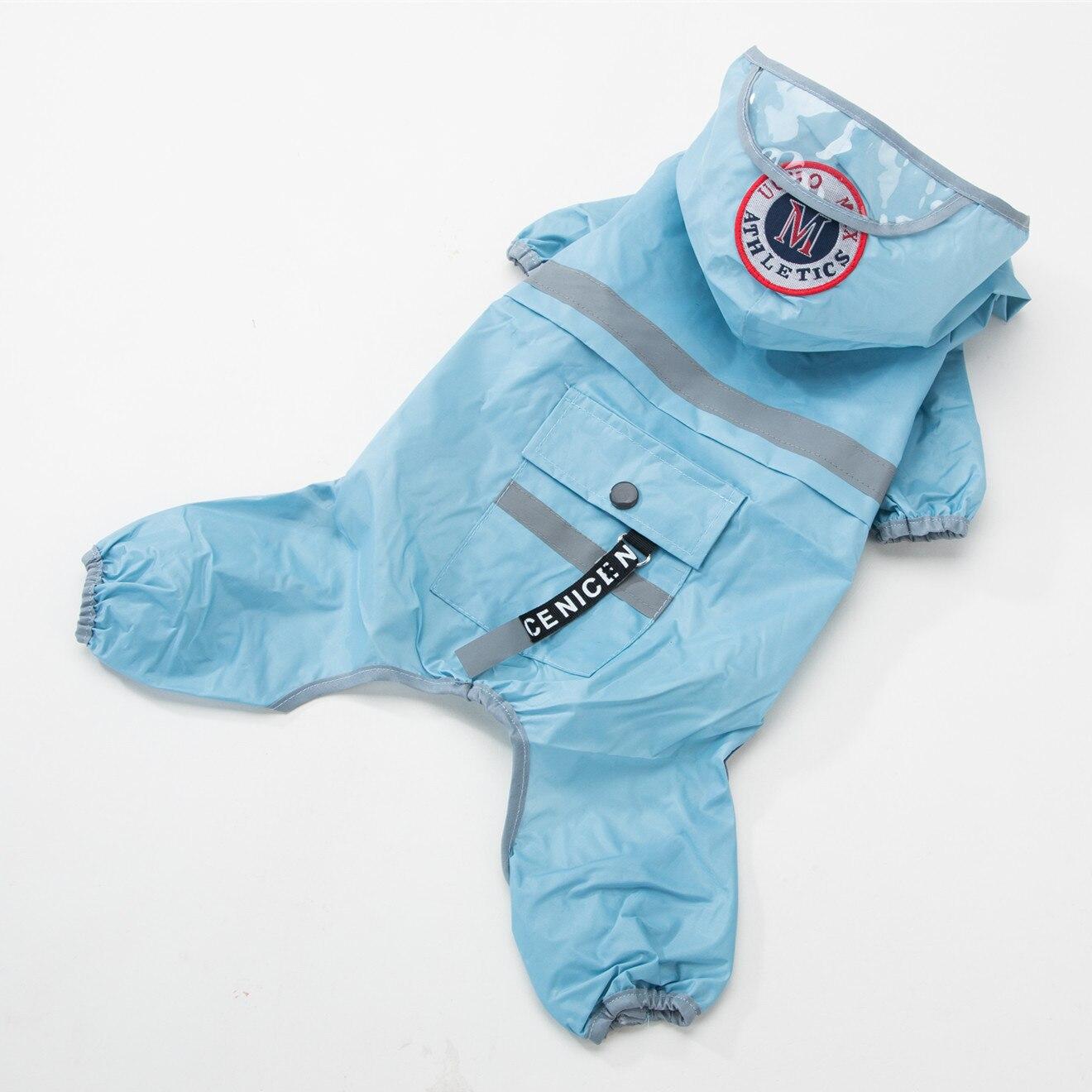 Dog Raincoat Dog Translucent Hat Dog Raincoat Hood Waterproof Overalls Jumpsuit Rain Suit For Small Dog Yorkshire Chihuahua