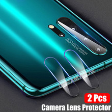 2 piezas de vidrio de protección para Huawei Honor 20 P Smart P20 Lite Y6 Y7 Y9 2019 Nova 5 Pro lente de la cámara trasera película protectora de la pantalla del teléfono