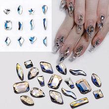 30 шт  Стразы для дизайна ногтей moonstone смешанные формы с