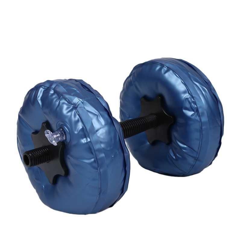 2 sztuk/zestaw przenośny regulowany wypełniony wodą hantle 5-10Kg pcv hantle joga kulturystyka Park wodny siłownia sztanga Fitness Workout