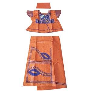 Image 5 - MD アフリカの伝統的な服スーツ刺繍 dashiki バザンリッシュスカートセット 2019 南アフリカ服トップス