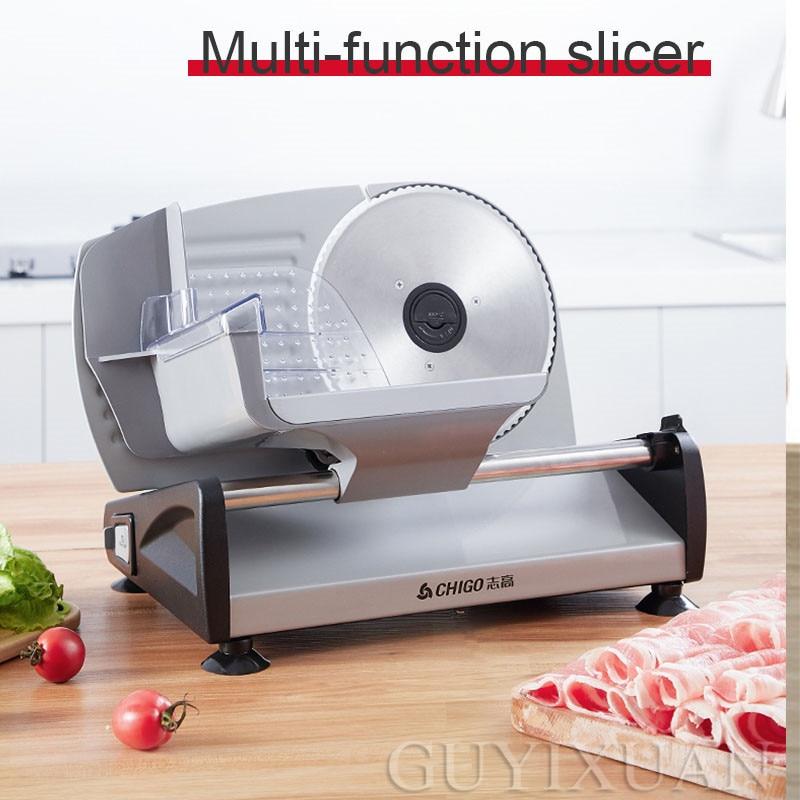 220V Household Meat Slicer Lamb Beef Roll Slicer Multifunction Meat Cleaver Toast Beef Slicer Fruit Electric Meat Slicer
