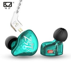 KZ ZST X 1BA + 1DD hybrydowe słuchawki HIFI Bass DJ słuchawki douszne ze srebrnym kabel warstwowy słuchawki douszne KZ ZSTX ZSN ZSX E10 S2