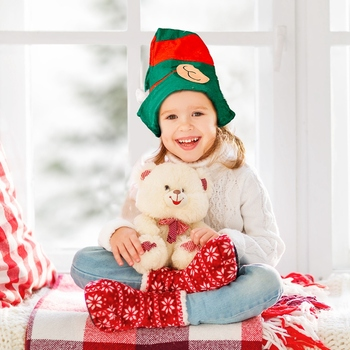 Boże narodzenie dorosłe dzieci czerwone ogólne boże narodzenie kapelusz czerwona i czarna siatka krótki pluszowy kapelusz kreskówka prezent na boże narodzenie tanie i dobre opinie CN (pochodzenie) Unisex cloth 21*20cm 1 Piece Christmas Xmas Hats Adult