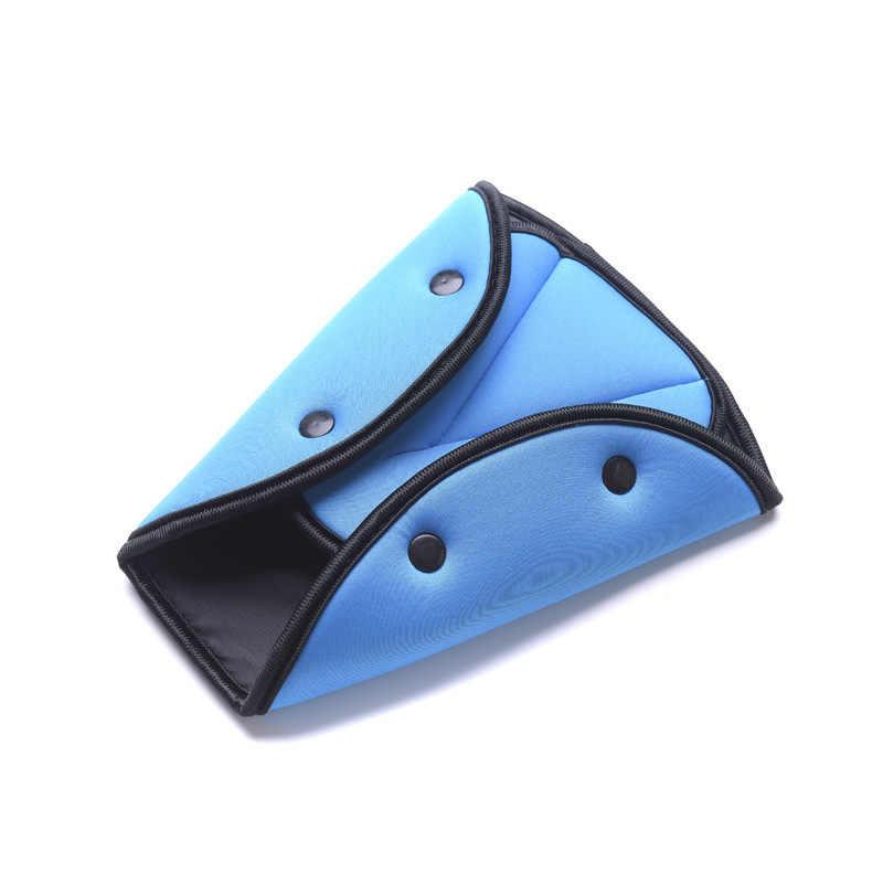Quente ajustável assento de carro cinto de segurança capa resistente triângulo cinto de segurança almofada clips bebê criança proteção carro-estilo do carro bens