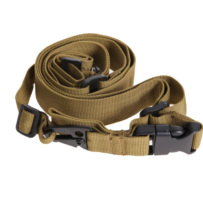 3 Point Tactical Belts Military Waist Belt Adjustable Bungee Rifle Sling Swivels System Strap Heavy Duty Training Waist Belt
