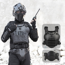 Bulletproof Plate Tactical armor suit with elbow breastplate, crotch waist seal and adjustable PC material