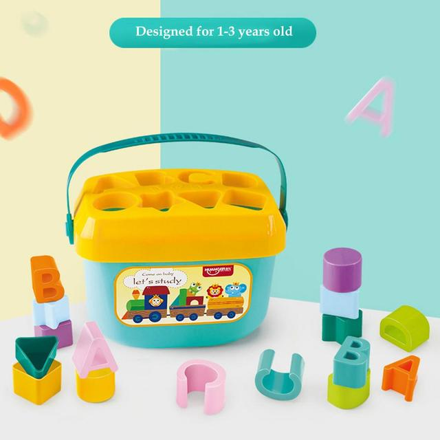 Baby Early Education Building Block Box 1-3 Years Old Multifunctional Baby Toy Shape Matching Early Education Toy 4