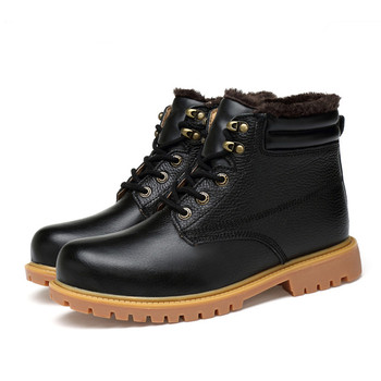 Men's Boots High Quality Waterproof Footwear The New Autumn Winter Ankle Boots for Men Fashion Warm Boots Big Size 36~48