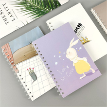 A5 Spiral Coil Notebook Kawaii Cover Coil Binding Diary Book 60 Pages Thicker Paper Office School Student Stationery