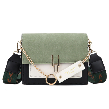 2020 new mini handbags women fashion ins ultra fire retro wide shoulder strap messenger bag purse simple style Crossbody Bags 7