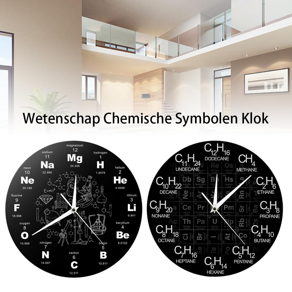 Periodic Table Of Elements Wall Art Chemical Symbols Wall Clock Chemical Science Wall Art Decor Gift For Chemistry Teacher