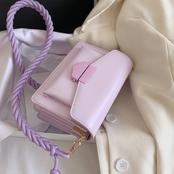Braided Shoulder Strap Design Small PU Leather Crossbody Bags For Women 2020 Shoulder Handbag Female Luxury Cross Body Bag