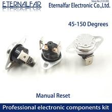 KSD301 10A 85 90 97 100 105 110 C Graus Celsius Reset Manual Termostato Interruptor de Temperatura Normalmente Fechado de Controle de Temperatura