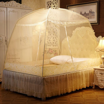 Encryption Thicken Mosquito Net Home Bed Tent Mongolian Yurt Mosquito Net Solo Student Dormitory Mosquito Net For Travel Camping