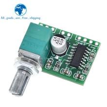 TZT PAM8403 zasilania 5V płyta wzmacniacza Audio 2 kanał 3W W regulacja głośności/zasilanie USB