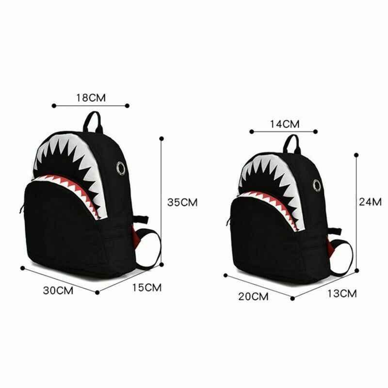 2019 new cute baby school bag cartoon shark backpack student boy girl universal casual shoulder bag