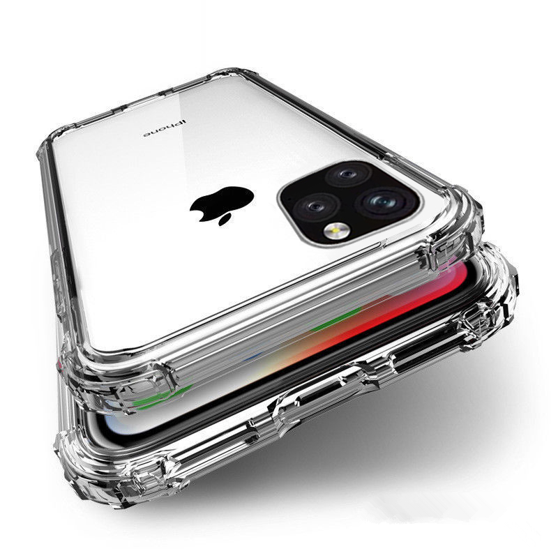 Soft TPU Drop Protection Mobile Phone Case For Ipone 11 Pro MAX Xs Max X Xr 6 7 8 6s Plus Clear Back Cover Capa Fundas