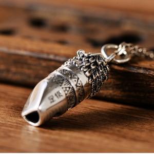 Image 4 - BALMORA מקורי 925 אמיתי סטרלינג כסף כמו בחיים Owel תליון לנשים גברים Blowable משרוקית קסם תכשיטי מתנות אין שרשרת