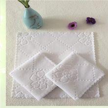 Napkin Square White for Hotel Restaurant Handkerchief Fiber-Wipes Disposable-Supplies