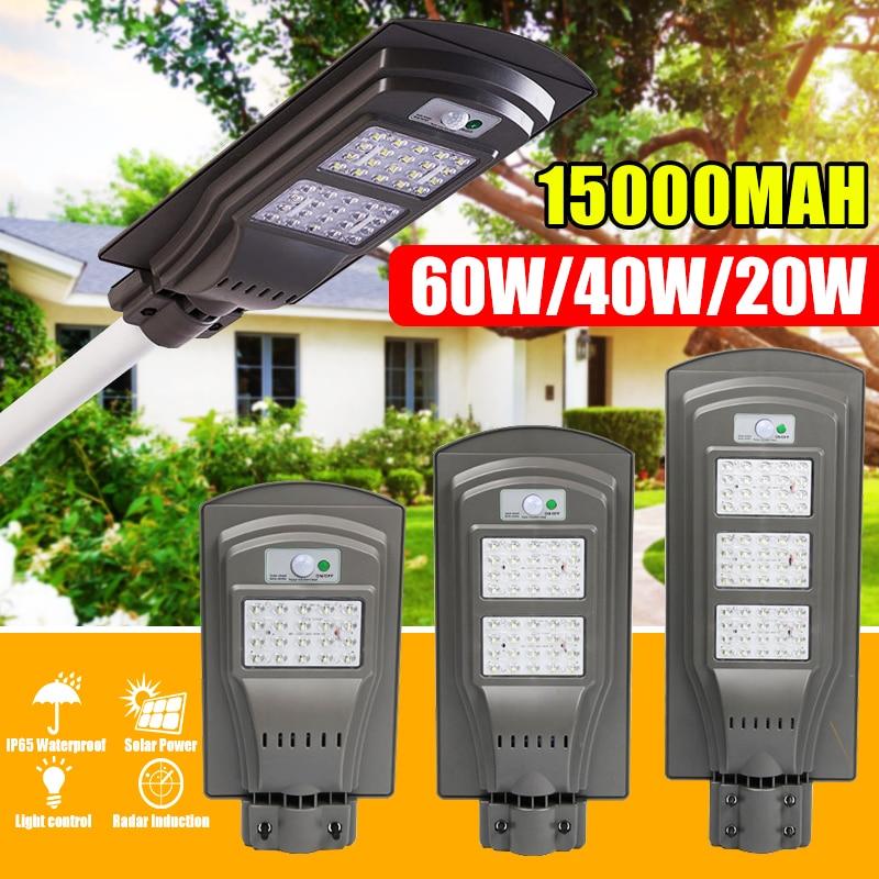 20 w 40 w 60 w ip65 duravel a prova dwaterproof agua led solar sensor de