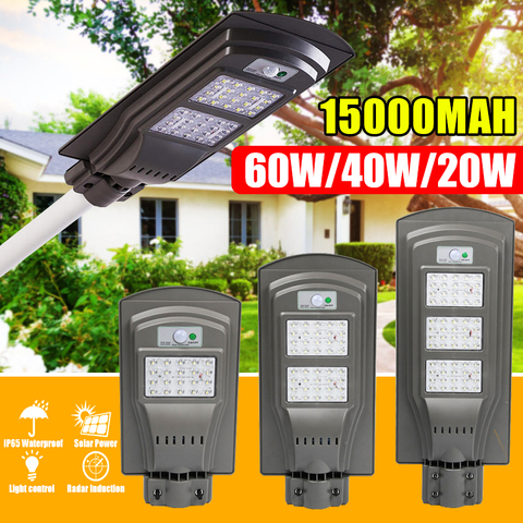 20 w 40 w 60 w ip65 duravel a prova dwaterproof agua led solar sensor