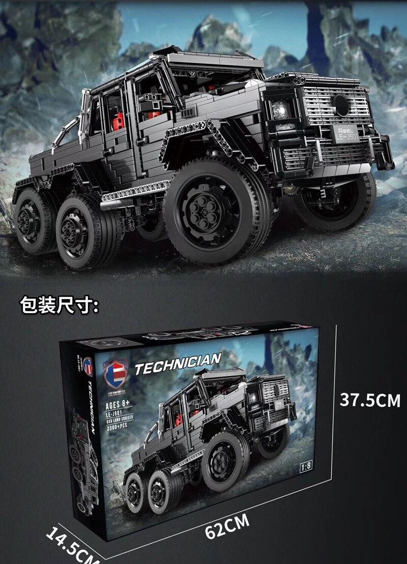 3300 шт. Technic внедорожники MOC G63AMG 6X6 LAND CRUISER набор модельных скоростных внедорожников кирпичи гоночные машины строительные блоки игрушки - 6