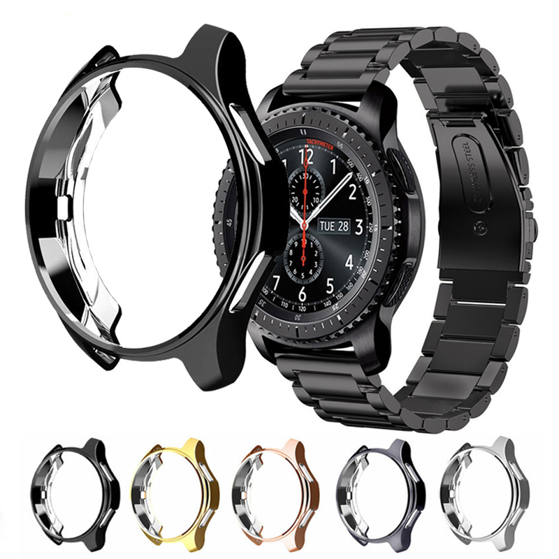 Gear S3 Frontier For Samsung Galaxy Watch 46mm 42mm Band Protective Case Smart Watch Replacement TPU All-Around Cover Shell 22mm