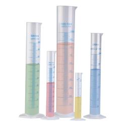 4pcs Transparent Measuring Plastic Graduated Cylinder Plastic Measuri Trial Test Liquid Tube Lab Tool 10ml / 25ml / 50ml / 100ml