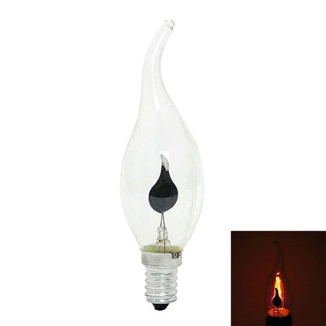 Flamme feu lumière LED E14 3W Edison ampoule éclairage Vintage lampe effet scintillant tungstène bougie pointe lampe