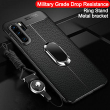 Ultra Dunne Zachte Siliconen Telefoon Case voor Huawei P30 Pro P20 P10 P9 P8 lite Plus Mate 30 20 10 9 lite Pro X Standhouder cover(China)