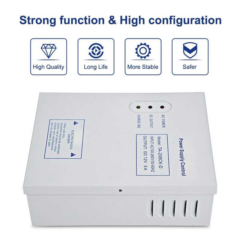 208CK-D Ac 110-240V Dc 12 V/5A Deur Toegangscontrole Systeem Switching Supply Power Ups Power supply